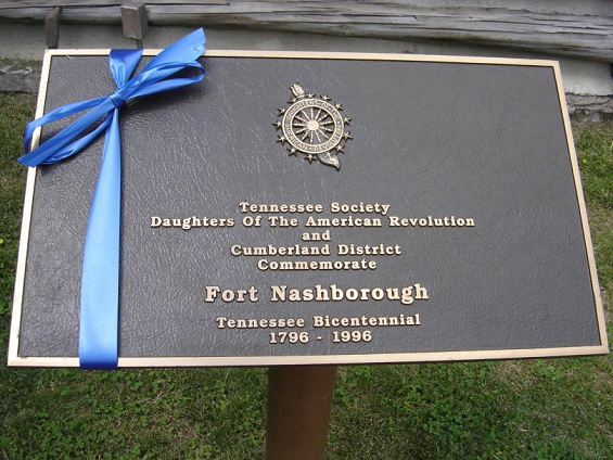 TSDAR Historic Marker celebrating Tennessee Bicentennial placed1996