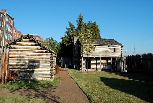 Inside Fort Nashborough