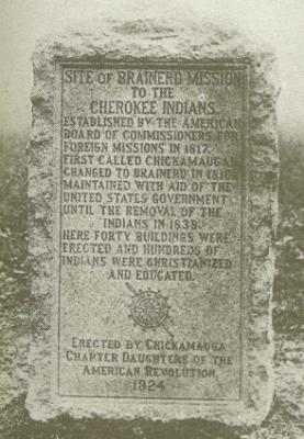 Brainerd Mission marker 1924