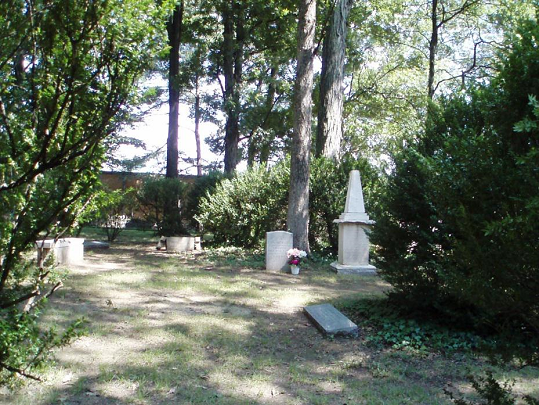 Tombstones at Brainerd Mission Cemetery