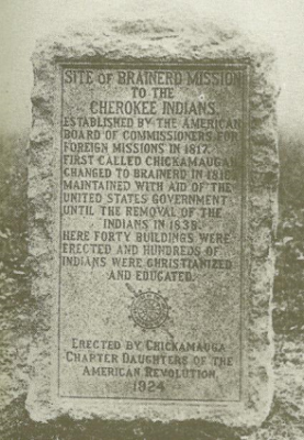 Brainerd Mission marker 1924