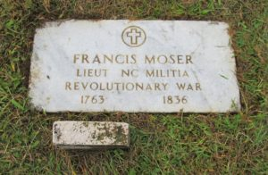 grave of francis moser