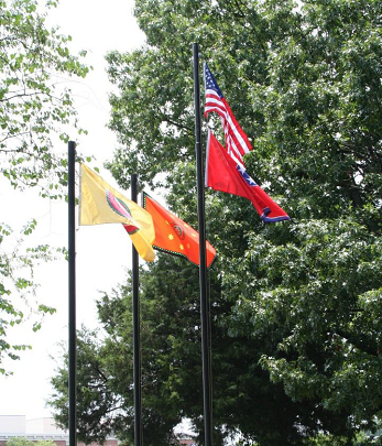 Flag-raising ceremony held every year at Brainerd Mission Cemetery the second Wednesday in June. DAR, SAR and C.A.R. participate.